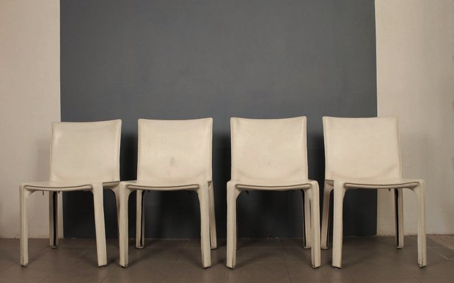 412 Cab Chairs Von Mario Bellini Fur Cassina 1977 4er Set Bei