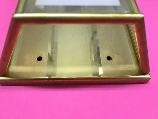 Applique vintage in ottone e vetro di la lanterna in vendita su pamono