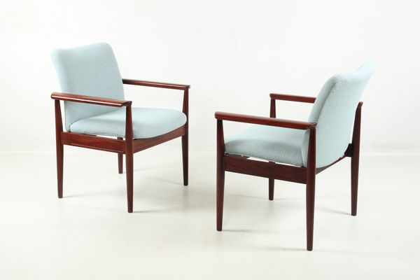 Diplomat Chair In Tulipwood By Finn Juhl For Cado, 1960s 2
