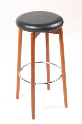 danish mid century teak bar stools 1960s set of 3 for sale at pamono