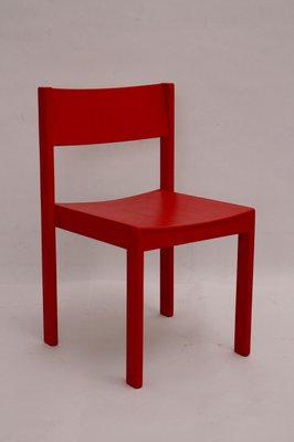 Mid Century Red Dining Room Chairs From E A Pollak Set Of 4 For Sale At Pamono