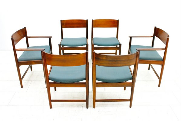outlet store cbe84 dd5d0 Rosewood Dining Chairs by Arne Vodder for Sibast Furniture, 1960s, Set of 6