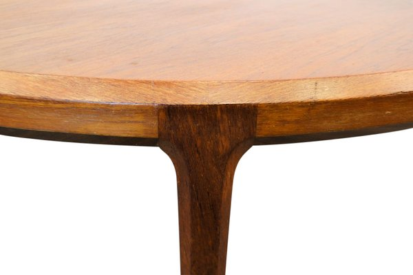 Round Teak Coffee Table By Johannes Andersen For Silkeborg Møbelfabrik