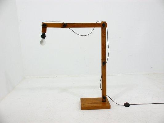 Scandinavian Modern Wooden Floor Lamp From Linus Bopp 1970s