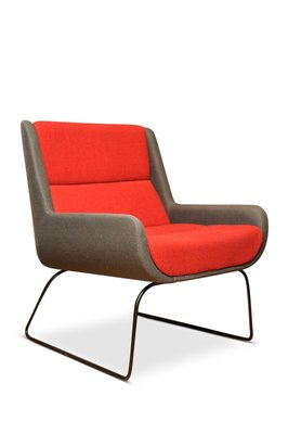 Pleasant Red And Grey Hush Chair From Naughtone X Herman Miller 2006 Caraccident5 Cool Chair Designs And Ideas Caraccident5Info