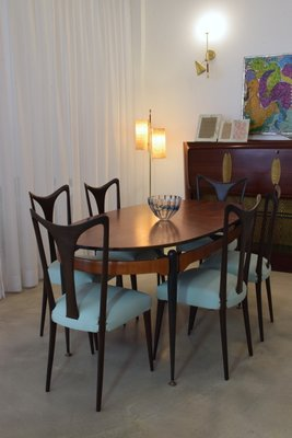 Vintage Italian Dining Chairs By Guglielmo Ulrich 1940s Set Of 6