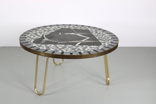 Table Mosaïque par Berthold Müller, 1950s
