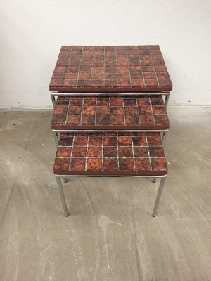 Fantastic Nesting Tables From Brabantia 1960S Set Of 3 Bralicious Painted Fabric Chair Ideas Braliciousco