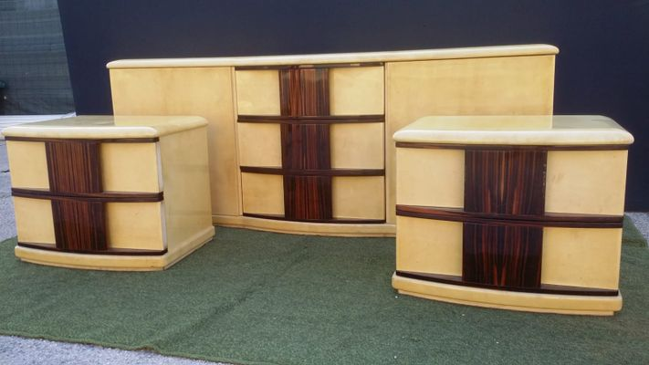 Rosewood Chest With Two Bedside Tables 1960s 12