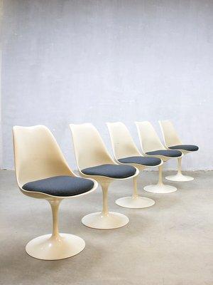 Marvelous Mid Century Modern Tulip Dinner Chairs By Eero Saarinen For Knoll, Set Of 5