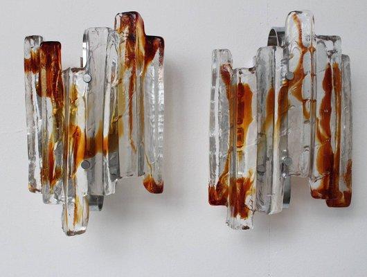 Lampade da parete da interno bagno vetro di murano tipo di presa
