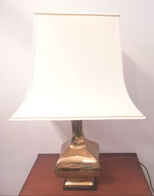 Table Lamp With Solid Brass Base 1970s