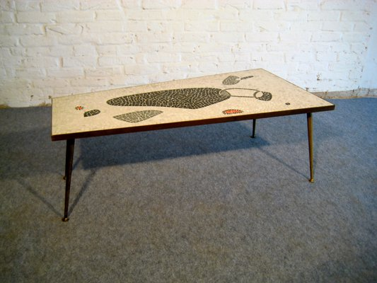 Mid Century Mosaic Coffee Table 1950s 3