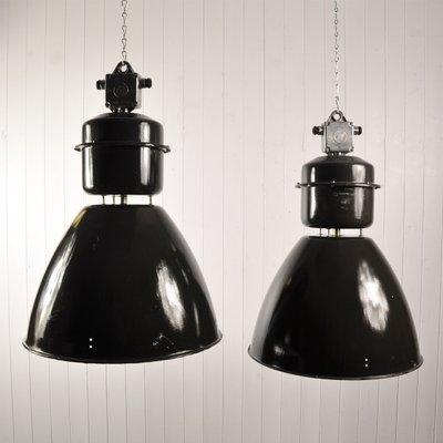 Large Vintage Czech Factory Light