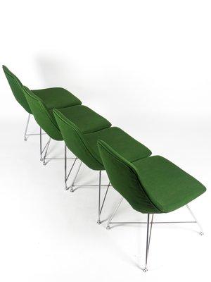 Stupendous Fabric Chrome Plated Athena Dining Chairs By Augusto Bozzi For Saporiti Italia 1950S Set Of 4 Creativecarmelina Interior Chair Design Creativecarmelinacom