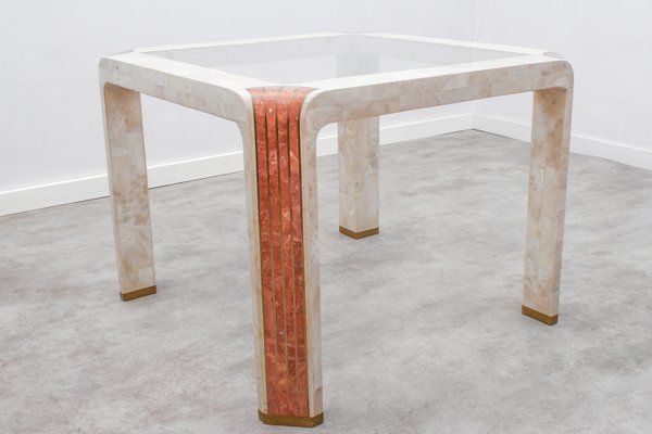 Tessellated Fossil Stone Side Table By Robert Marcius For Casa Bique, 1980s  1