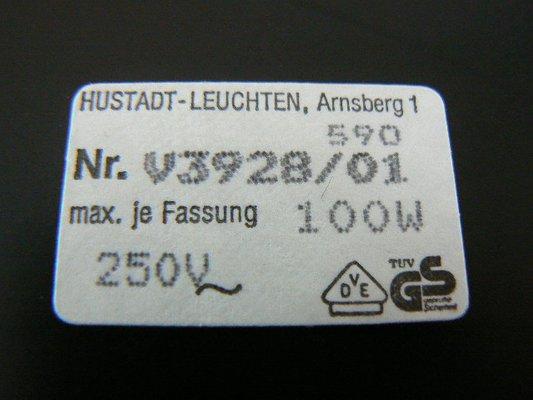 German Vintage Desk Lamp Hustadt Leuchten Arnsberg, 1970's