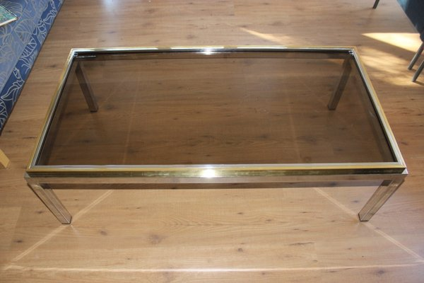 Flaminia Glass Coffee Table By Willy Rizzo 1970s
