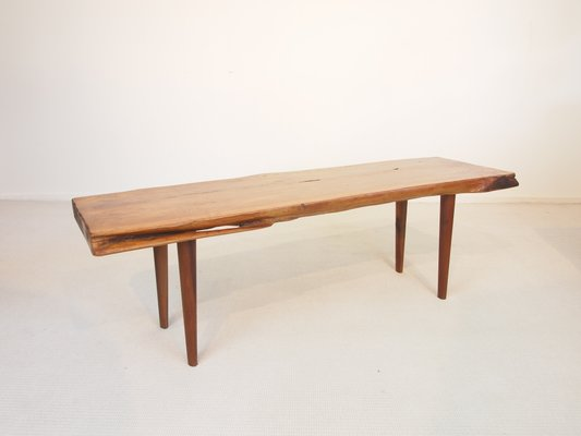 Mid Century Wooden Slab Coffee Table From Reynolds Of Ludlow 1