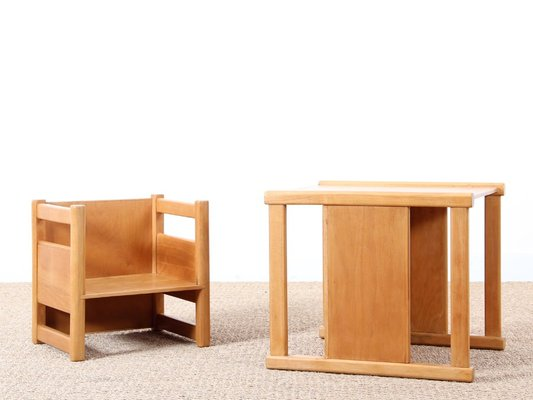 Scandinavian Reversible Children S Table And Chair Set By Magnus L Stephensen Kay Bojesen For Sale At Pamono