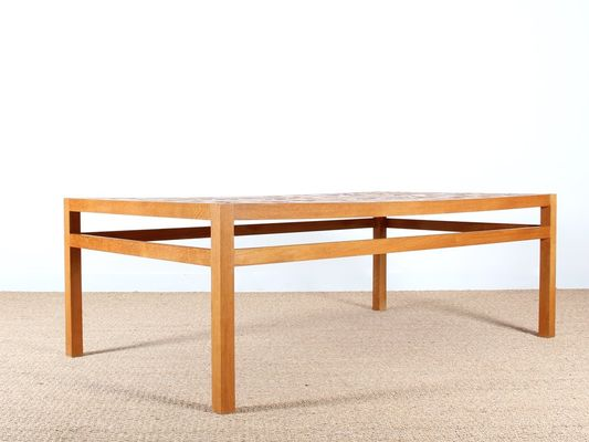 Mid Century Ceramic Tile Topped Coffee Table By Tue Poulsen For Heltborg Møbler 3