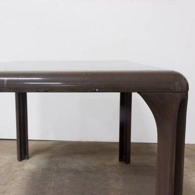 Table Démontable en Plastique Marron par Vico Magistretti pour Artemide,  1970s