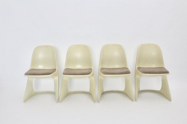Casalino Plastic Chairs By Alexander Begge For Casala Set Of 4 1