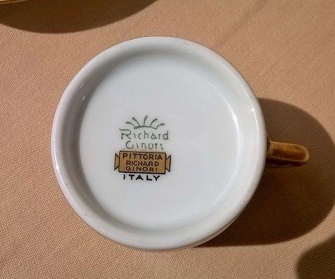 Marchi Richard Ginori.Tea Set By Gio Ponti For Richard Ginori 1935