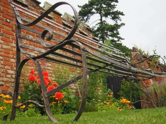 Miraculous Antique Wrought Iron 4 Seater Garden Bench Squirreltailoven Fun Painted Chair Ideas Images Squirreltailovenorg