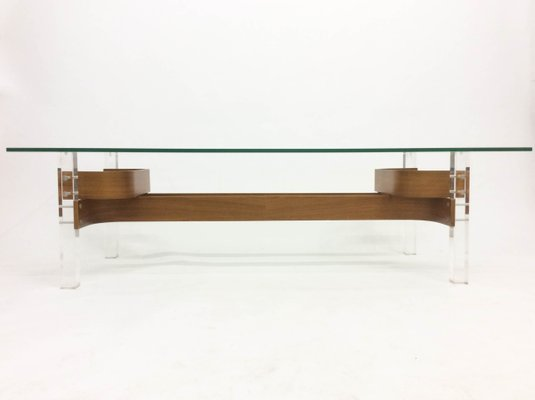 Mid Century Gl Perspex Coffee Table 1960s