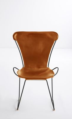 Black Smoke Steel U0026 Natural Tobacco Vegetable Tanned Leather HUG Chair By  Jover+Valls 1