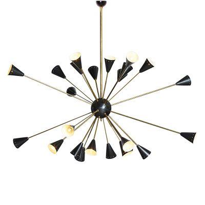lámpara de techo sputnik, años 50 en venta en pamono