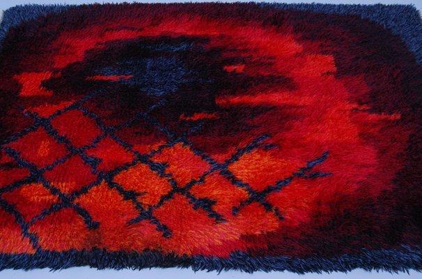 Fire Pattern Rya Rug From Ege