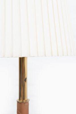 Brass and leather floor lamp 1950s for sale at pamono brass and leather floor lamp 1950s 4 aloadofball Image collections