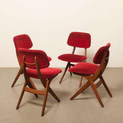 Fabulous Dining Room Chairs By Louis Van Teeffelen For Webe 1960S Set Of 4 Spiritservingveterans Wood Chair Design Ideas Spiritservingveteransorg
