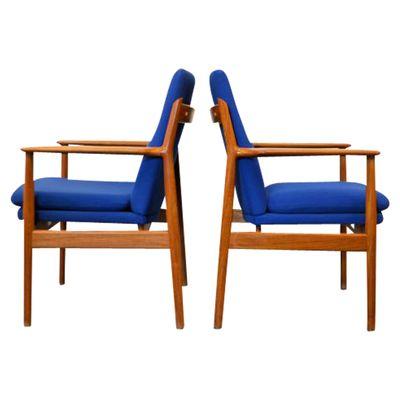 Model 341 Teak Lounge Chairs By Arne Vodder For Sibast, Set Of 2 2