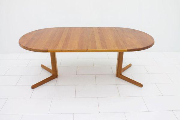 Tavolo da pranzo rotondo Mid-Century in teak allungabile con due ...