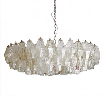 Mid Century Poliedri Murano Glass Chandelier by Carlo Scarpa, 1960s