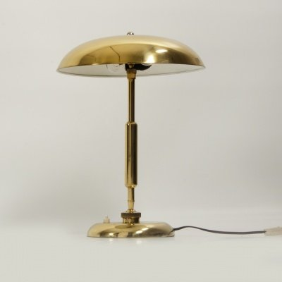 Genial Vintage Brass Table Lamp, 1930s 3
