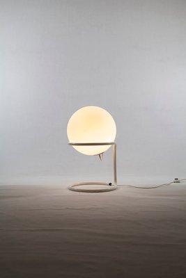 Large Mid Century Gl Ball Floor Lamp