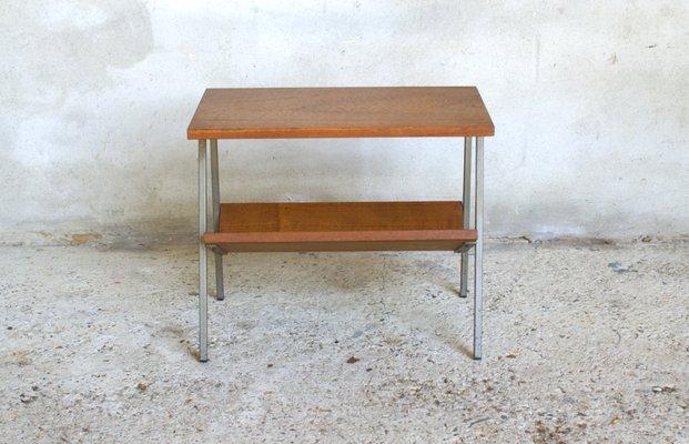 b54276e7af Vintage Dutch Teak Veneer Side Table with Magazine Rack for sale at ...