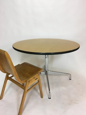 Stupendous Vintage Circular Dining Table By Charles Ray Eames For Vitra Pabps2019 Chair Design Images Pabps2019Com