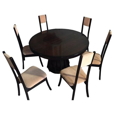 Outstanding Round Dining Table 6 Chairs Set By Angelo Mangiarotti For La Sorgente Dei Mobili 1970S Camellatalisay Diy Chair Ideas Camellatalisaycom