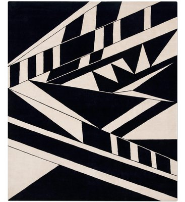 Deco Rug In Black White From Knots