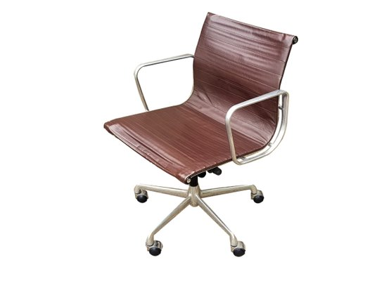 Fine Ea 117 Brown Leather Swivel Office Chair By Charles Ray Eames For Icf De Padova 1950S Pdpeps Interior Chair Design Pdpepsorg
