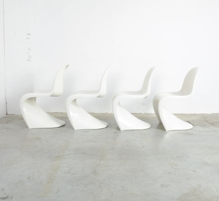 S Chairs By Verner Panton For Herman Miller, 1973, Set Of 4