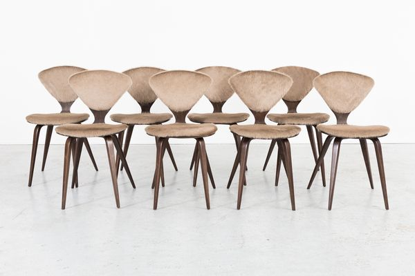 Vintage Dining Chairs By Norman Cherner For Plycraft, Set Of 8 1