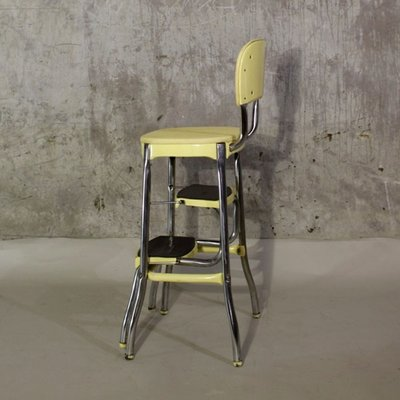 Vintage American Chair And Step Ladder 1950s For Sale At Pamono