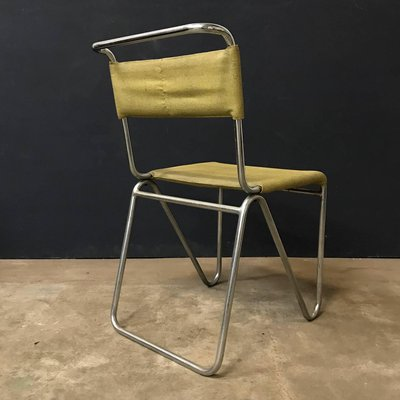 Magnificent Yellow Faux Leather 102 Diagonal Chair From Gispen 1927 Gmtry Best Dining Table And Chair Ideas Images Gmtryco