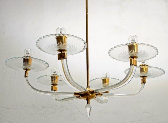 Lampadari Murano Barovier E Toso.Murano Glass Chandelier By Ercole Barovier For Barovier Toso 1940s